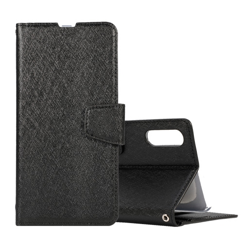Silk Texture Horizontal Flip Leather Case for Galaxy A10 / M10, with Holder & Card Slots & Wallet & Photo Frame (Black)