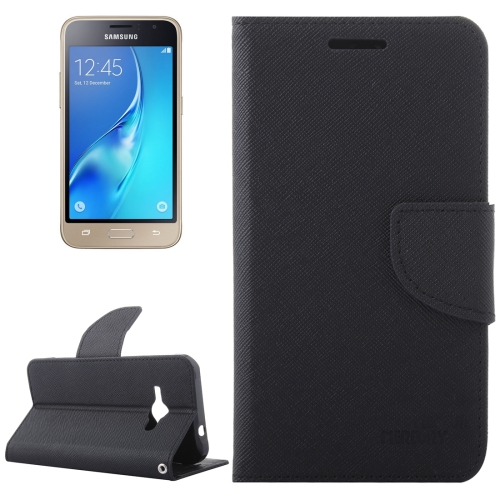 Buy For Samsung Galaxy J1, 2016 / J120 Cross Texture Horizontal Flip Leather Case with Magnetic Buckle & Holder & Card Slots & Wallet, Black for $2.16 in SUNSKY store