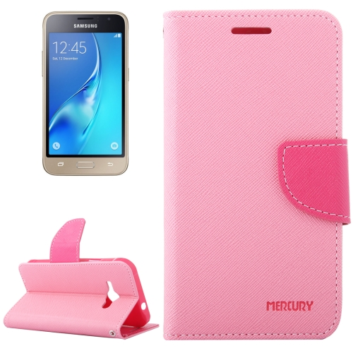 Buy For Samsung Galaxy J1, 2016 / J120 Cross Texture Horizontal Flip Leather Case with Magnetic Buckle & Holder & Card Slots & Wallet, Pink for $2.16 in SUNSKY store