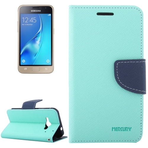 Buy For Samsung Galaxy J1, 2016 / J120 Cross Texture Horizontal Flip Leather Case with Magnetic Buckle & Holder & Card Slots & Wallet, Green for $2.16 in SUNSKY store