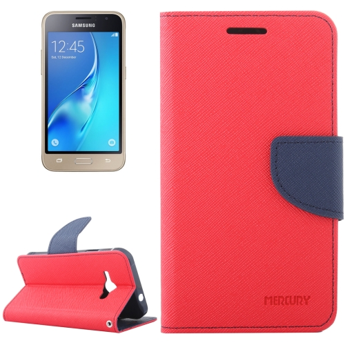 Buy For Samsung Galaxy J1, 2016 / J120 Cross Texture Horizontal Flip Leather Case with Magnetic Buckle & Holder & Card Slots & Wallet, Red for $2.16 in SUNSKY store