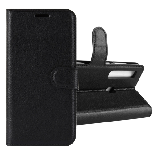 Litchi Texture Horizontal Flip Leather Case for Galaxy A9 (2018) / A9s, with Holder & Card Slots & Wallet(Black)