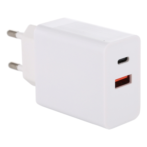 24W PD + QC3.0 Fast Charger Power Adapter Plug Adapter EU Plug