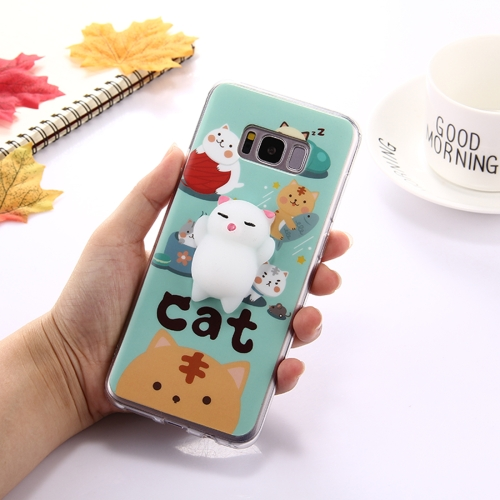 Buy For Samsung Galaxy S8 + / G955 Lovely 3D Cartoon Squeeze Relief Squishy Dropproof Protective Back Cover Case for $1.00 in SUNSKY store
