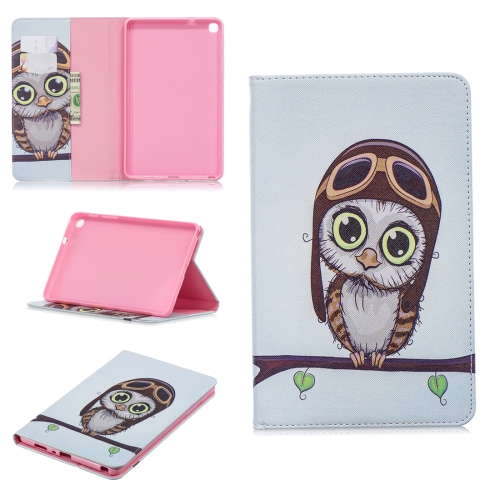 Colored Drawing Owl Pattern Horizontal Flip Leather Case for Galaxy Tab A 8 (2019) P200 / P205, with Holder & Card Slots & Wallet