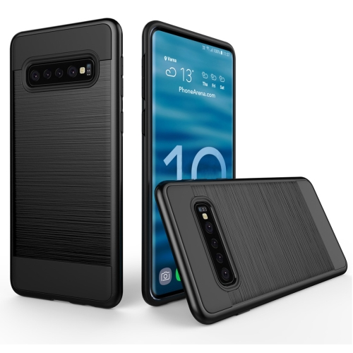 Brushed Texture PC + TPU Protective Case for Galaxy S10 5G (Black)