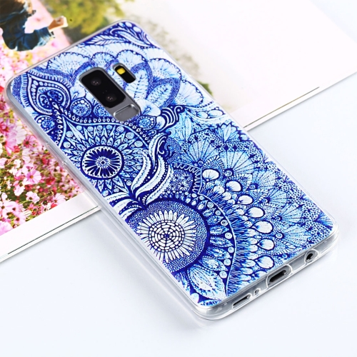 For Galaxy S9+ Painting Tribal Flower Pattern TPU Protective Back Case