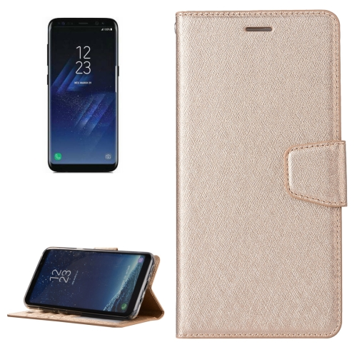 Buy For Samsung Galaxy S8 + / G955 Silk Texture Horizontal Flip Leather Case with Wallet & Holder & Card Slot & Photo Frame, Gold for $3.20 in SUNSKY store