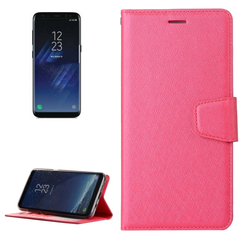 Buy For Samsung Galaxy S8 + / G955 Silk Texture Horizontal Flip Leather Case with Wallet & Holder & Card Slot & Photo Frame, Magenta for $3.20 in SUNSKY store
