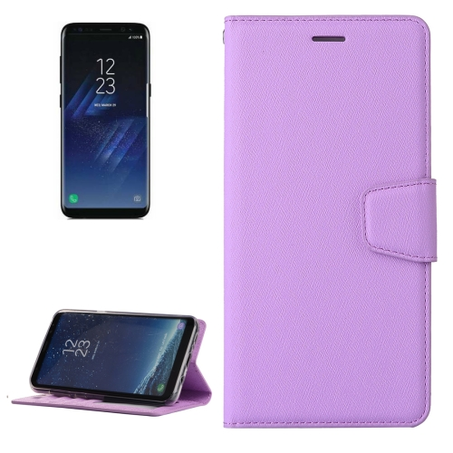 Buy For Samsung Galaxy S8 + / G955 Silk Texture Horizontal Flip Leather Case with Wallet & Holder & Card Slot & Photo Frame, Purple for $3.04 in SUNSKY store