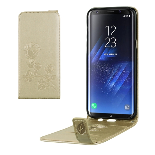Buy For Samsung Galaxy S8 + / G955 Roses Pressed Flowers Pattern Vertical Flip Leather Case with Card Slot & Lanyard, Gold for $2.12 in SUNSKY store