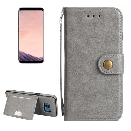 Buy For Samsung Galaxy S8 + / G955 Litchi Texture Detachable Rivet buckle Horizontal Flip Leather Case with Holder & Card Slots & Wallet & Photo Frame & Lanyard, Grey for $5.17 in SUNSKY store