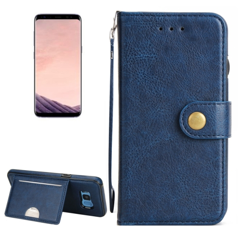 Buy For Samsung Galaxy S8 + / G955 Litchi Texture Detachable Rivet buckle Horizontal Flip Leather Case with Holder & Card Slots & Wallet & Photo Frame & Lanyard, Blue for $5.17 in SUNSKY store