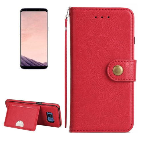 Buy For Samsung Galaxy S8 + / G955 Litchi Texture Detachable Rivet buckle Horizontal Flip Leather Case with Holder & Card Slots & Wallet & Photo Frame & Lanyard, Red for $5.17 in SUNSKY store