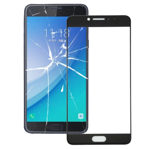 Buy iPartsBuy for Samsung Galaxy C7 Pro / C701 Front Screen Outer Glass Lens, Black for $2.02 in SUNSKY store