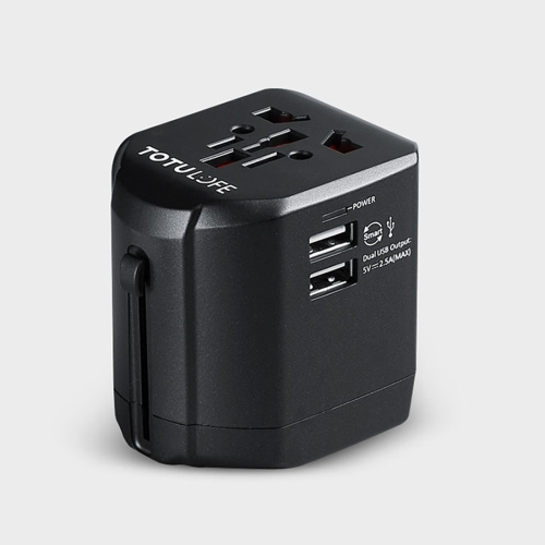 Buy TOTUDESIGN 2.5A Total Output Universal Adapter Dual USB Ports Travel Charger with LED Indicator, Global Plug for $15.22 in SUNSKY store