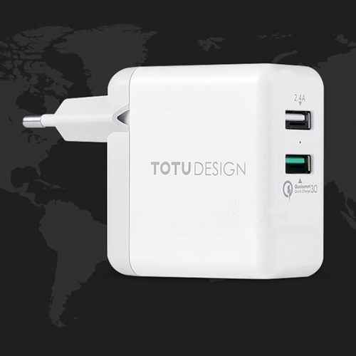 Buy TOTUDESIGN Super Series Universal Dual USB Ports Travel Charger QC3.0 Quick Charger, EU Plug for $11.33 in SUNSKY store
