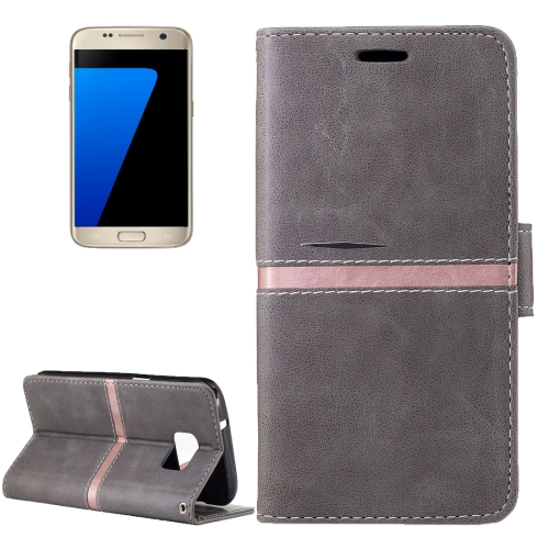 Buy For Samsung Galaxy S7 / G930 Crazy Horse Texture PU Leather Horizontal Flip Leather Case with Holder & Card Slots & Wallet & Photo Frame & Lanyard, Grey for $2.64 in SUNSKY store