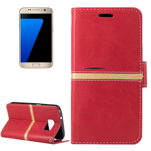 Buy For Samsung Galaxy S7 / G930 Crazy Horse Texture PU Leather Horizontal Flip Leather Case with Holder & Card Slots & Wallet & Photo Frame & Lanyard, Red for $2.64 in SUNSKY store