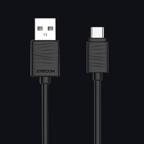 JOYROOM JR-S118 1m 2.4A Type C to USB Fast Charging Cord Charge Cable, For Samsung / Huawei P9 / Xiaomi 5 / Meizu Pro 5 / LG / HTC and Other Smartphones(Black) гарнитура joyroom jr el112 black