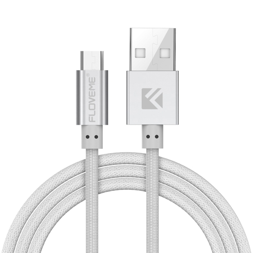 Buy FLOVEME 1m 2.1A Aluminum Alloy Head USB to Micro USB PE Data Sync Charging Cable for $2.41 in SUNSKY store