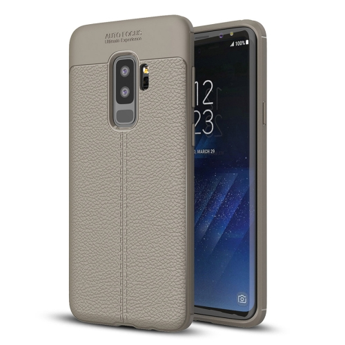 Buy For Samsung Galaxy S9+ Litchi Texture Soft TPU Anti-skip Protective Cover Back Case, Grey for $2.27 in SUNSKY store