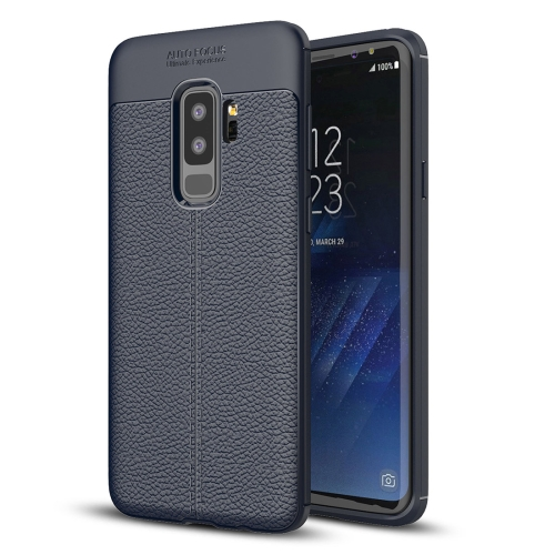 Buy For Samsung Galaxy S9+ Litchi Texture Soft TPU Anti-skip Protective Cover Back Case (Navy Blue) for $2.27 in SUNSKY store