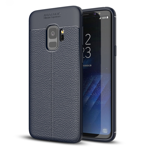Buy For Samsung Galaxy S9 Litchi Texture Soft TPU Anti-skip Protective Cover Back Case, Small Quantity Recommended Before Samsung Galaxy S9 Launching (Navy Blue) for $2.28 in SUNSKY store