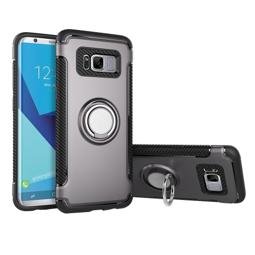 Buy For Samsung Galaxy S8 + / G955 Phone Ring Armor TPU + PC 360 Degrees Rotation Magnetic Phone Ring Stent Combination Case, Grey for $2.28 in SUNSKY store