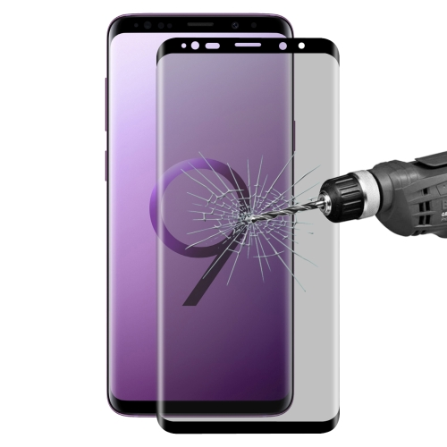 ENKAY Hat-Prince for Galaxy S9+ 0.26mm 9H Surface Hardness 3D Privacy Anti-glare Full Screen Tempered Glass Protective Film
