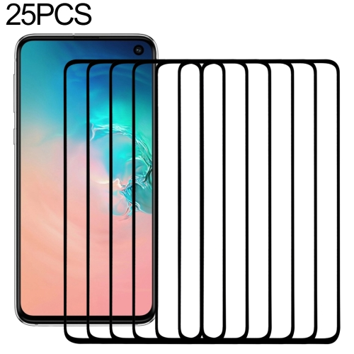 25 PCS 9H 2.5D Premium Curved Screen Crystal Tempered Glass Film for Galaxy S10