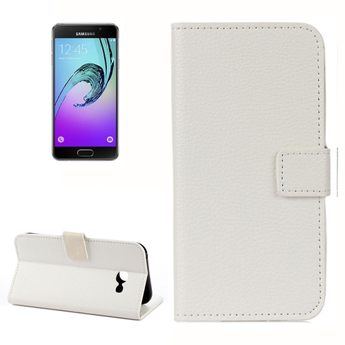 Buy For Samsung Galaxy A5, 2017 / A520 Litchi Texture Horizontal Flip Leather Case with Holder & Card Slots & Wallet, White for $2.33 in SUNSKY store