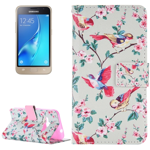 Buy For Samsung Galaxy J1, 2016 / J120 Birds Pattern Horizontal Flip Magnetic Leather Case with Holder and Card Slots & Wallet for $2.46 in SUNSKY store