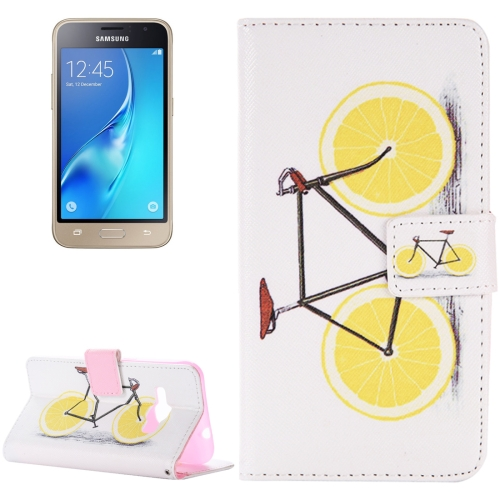 Buy For Samsung Galaxy J1, 2016 / J120 Lemon Pattern Horizontal Flip Magnetic Leather Case with Holder and Card Slots & Wallet for $2.45 in SUNSKY store