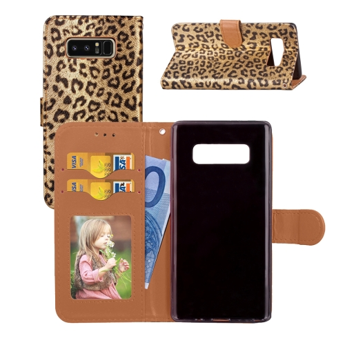 Buy For Samsung Galaxy Note 8 Leopard Pattern Horizontal Flip Leather Case with Holder & Card Slots & Wallet & Photo Frame & Lanyard, Gold for $3.19 in SUNSKY store