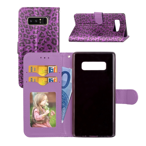 Buy For Samsung Galaxy Note 8 Leopard Pattern Horizontal Flip Leather Case with Holder & Card Slots & Wallet & Photo Frame & Lanyard, Purple for $3.19 in SUNSKY store
