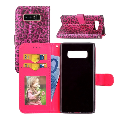 Buy For Samsung Galaxy Note 8 Leopard Pattern Horizontal Flip Leather Case with Holder & Card Slots & Wallet & Photo Frame & Lanyard, Red for $3.19 in SUNSKY store