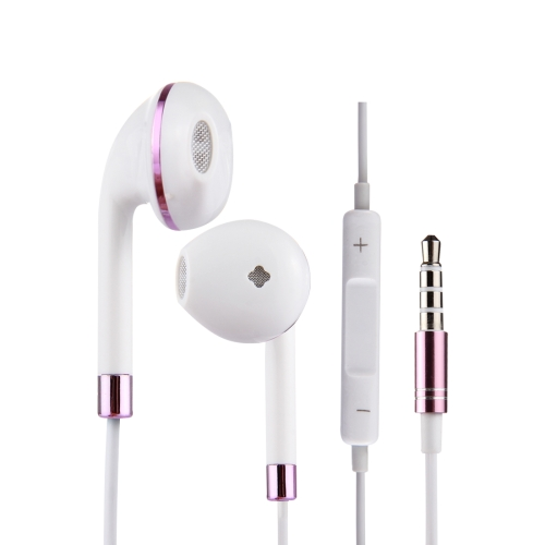 White Wire Body 3.5mm In-Ear Earphone with Line Control & Mic
