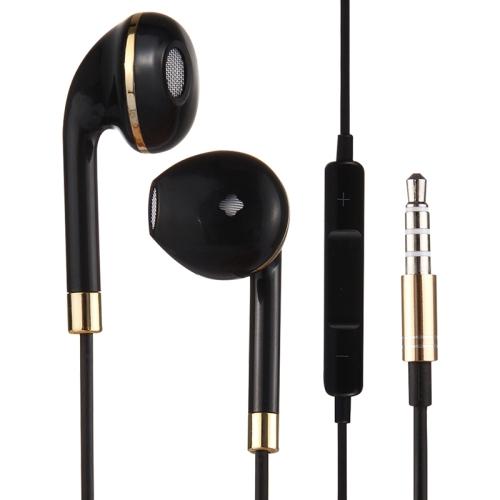 Black Wire Body 3.5mm In-Ear Earphone with Line Control & Mic