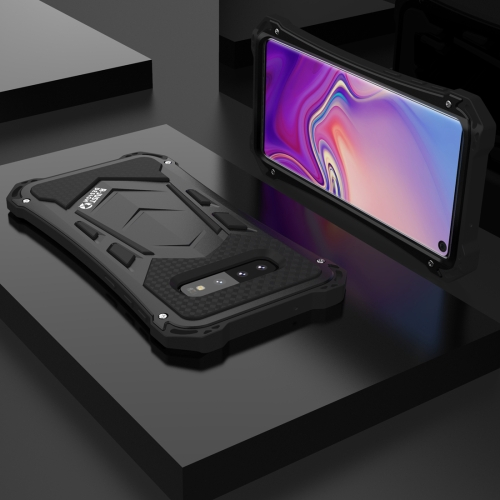 Shockproof Dustproof Metal Armor Protective Case for Galaxy S10 (Black)