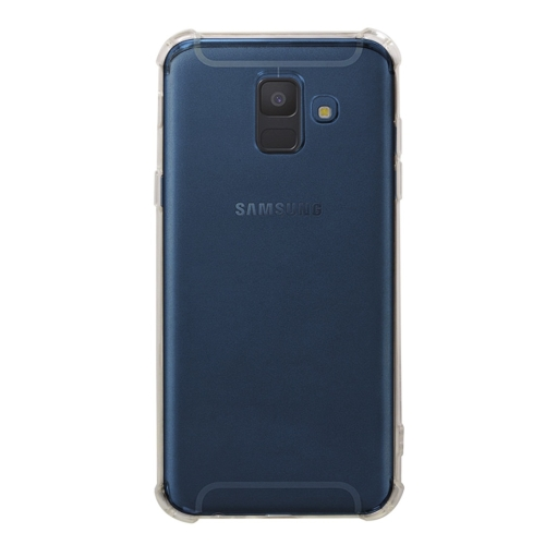 Shockproof TPU Protective Case for Galaxy A6 (2018) (Transparent)