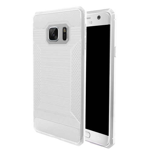Buy For Samsung Galaxy S7 Brushed Texture Carbon Fiber Anti-slip TPU Protective Cover Case, Transparent for $1.83 in SUNSKY store