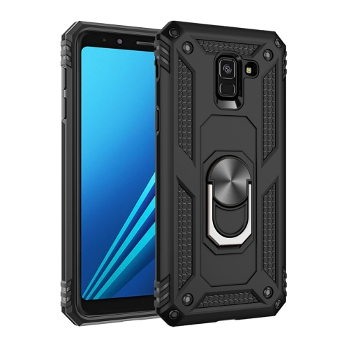 Armor Shockproof TPU + PC Protective Case for Galaxy A8 (2018), with 360 Degree Rotation Holder (Black)