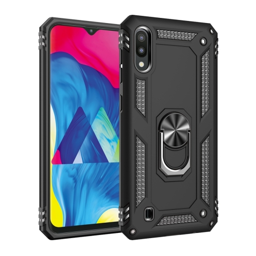 Armor Shockproof TPU + PC Protective Case for Galaxy M10, with 360 Degree Rotation Holder (Black)