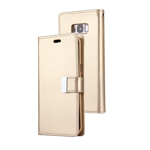 Buy MERCURY GOOSPERY RICH DIARY for Samsung Galaxy S8 PU + TPU Crazy Horse Texture Horizontal Flip Leather Case with Card Slots & Wallet, Gold for $4.93 in SUNSKY store