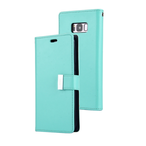 Buy MERCURY GOOSPERY RICH DIARY for Samsung Galaxy S8 PU + TPU Crazy Horse Texture Horizontal Flip Leather Case with Card Slots & Wallet (Mint Green) for $4.93 in SUNSKY store