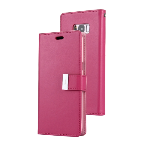 Buy MERCURY GOOSPERY RICH DIARY for Samsung Galaxy S8 + / G955 PU + TPU Crazy Horse Texture Horizontal Flip Leather Case with Card Slots & Wallet, Magenta for $5.17 in SUNSKY store