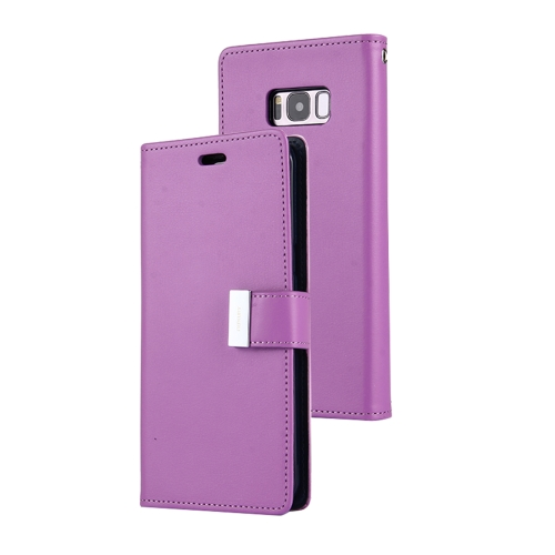 Buy MERCURY GOOSPERY RICH DIARY for Samsung Galaxy S8 + / G955 PU + TPU Crazy Horse Texture Horizontal Flip Leather Case with Card Slots & Wallet, Purple for $5.17 in SUNSKY store