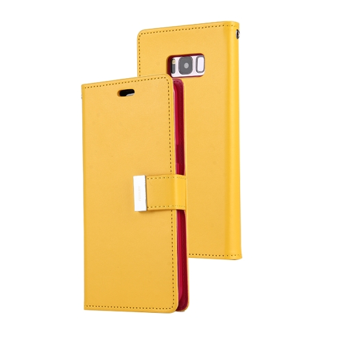Buy MERCURY GOOSPERY RICH DIARY for Samsung Galaxy S8 + / G955 PU + TPU Crazy Horse Texture Horizontal Flip Leather Case with Card Slots & Wallet, Yellow for $5.17 in SUNSKY store