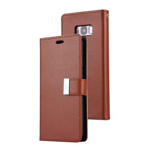 Buy MERCURY GOOSPERY RICH DIARY for Samsung Galaxy S8 + / G955 PU + TPU Crazy Horse Texture Horizontal Flip Leather Case with Card Slots & Wallet, Brown for $5.17 in SUNSKY store